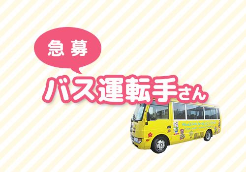 【急募】バス運転手さん募集!
